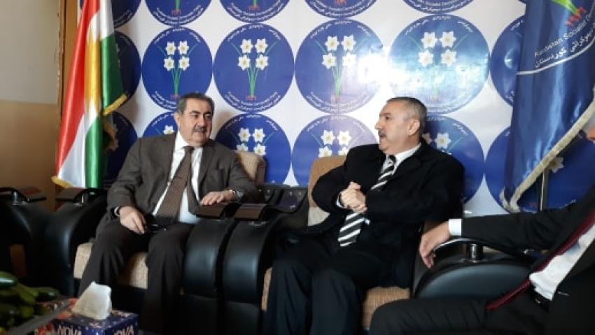 شاندی دانوستانكاری پارتی سهردانی حزبی سۆسیالیست دیموكراتی كوردستانی كرد